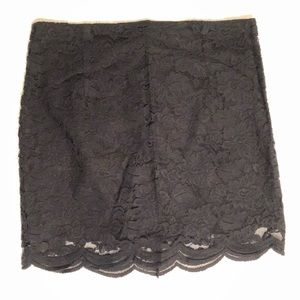 BB Dakota Black Lace Skirt